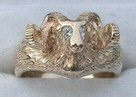Other Cast Rings - RCas16 - Rams head and Diamond eyes
