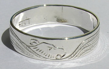 Silver bird feather rings - RbfS24 - Thunderbird