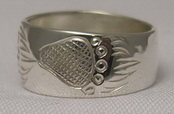 paws face silver rings - RS13 - Grizzly walking