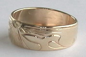 Gold Paws Face Rings - Rg26 - Sun Burst and 2 Whales