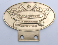 Road Runners - Bronze Badge - For the front of vintage British Motorcycles. Sold to The Roadrunners in Austin Texas,