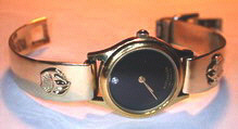 watches - Bear and wolf paw appliqued - gold on gold