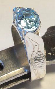Pedestal Hummingbird Blue Topaz