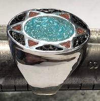 Sioux 6 Star Turquoise Onyx Coral