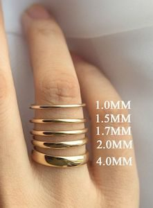 Thin Band ring width